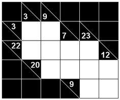 Number Logic Puzzles: 22420 - Kakuro size 1