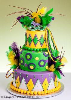 Mardi Gras wedding cake