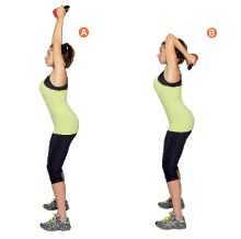 Image result for kettlebell tricep exercises