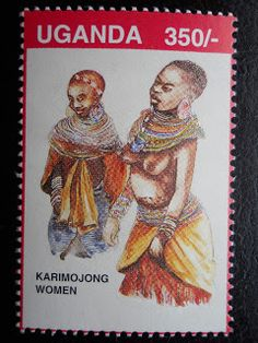 Stamps, covers and postcards of traditional/folk costumes: Stamps / Costumes - Uganda / Uganda