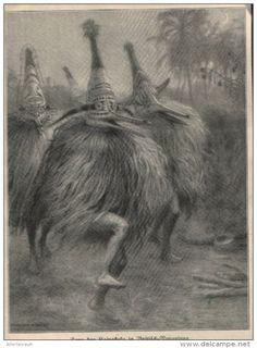 Tanz der Raivakuku in Britisch Neuguinea  / Druck ,entnommen  aus Zeitschrift / 1910