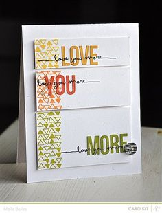 """Love You More"" by mbelles, as seen in the Club CK Idea Galleries. #scrapbook #scrapbooking #creatingkeepsakes"