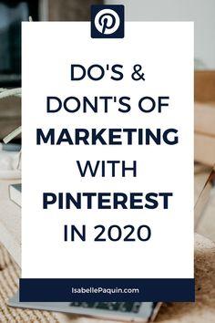 Pinterest Marketing Strategy 2020: DO'S Small Business Marketing, Marketing Plan, Content Marketing, Business Tips, Social Media Marketing, Online Business, Digital Marketing, Pinterest For Business, Pinterest Marketing