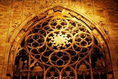 "Milan, Dome - Rose Window (by vincos) """" Door Knockers, Door Knobs, Milan Cathedral, Rose Window, Sacred Geometry Tattoo, Paz Interior, Door Gate, Mosaic, Windows"