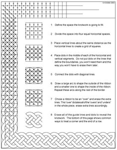 UPDATE: This was the best I could do six years ago, but I've simplified things radically since then. You can see the results in my DVD, which is much the easiest way to learn how to draw Celtic kno...