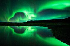 Aurore boréal, Islande