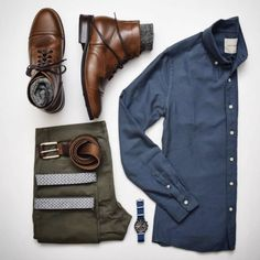 Outfit grid featuring Thursday Boots