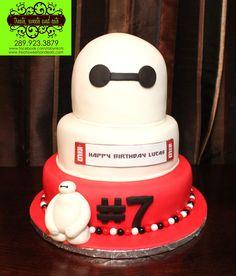 Creative Picture of Happy Birthday Cake . Happy Birthday Cake Big Hero 6 Birthday Cake Happy Birthday Again Lucas If Brithday Cake, 7th Birthday Cakes, Mermaid Birthday Cakes, Happy 7th Birthday, Birthday Cake Toppers, Birthday Cupcakes, Big Hero 6, Character Cakes, Cake Decorating Supplies