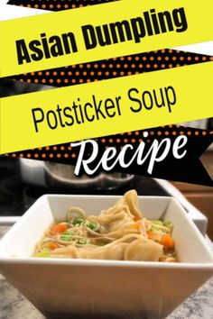 So easy with Asian Dumplings and some throw together frozen veg… Potsticker Soup! So easy with Asian Dumplings and some throw together frozen vegetables! 25 minutes start to finish Cookbook Recipes, Gourmet Recipes, Soup Recipes, Dinner Recipes, Chili Recipes, Quick Recipes, Quick Meals, Asian Recipes, Frugal Meals