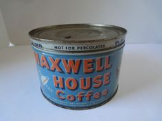 Maxwel House Coffee Vintage Tin Very Nice Condition