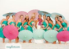 loving the idea for parasols for the bridesmaids. great photo ops