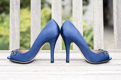 Something blue? Beautiful shoes! #FearringtonWedding #FearringtonVillage | Photographed by @krystalkast #KrystalKastPhotography