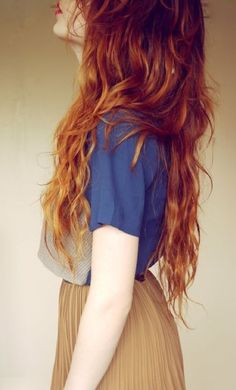 long ginger hair // i want her hair!