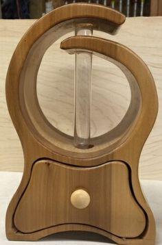 Custom Wooden Vase with test tube flower holder