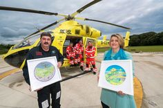 Yorkshire Air Ambulance helicopters captured in art tribute - Huddersfield Examiner