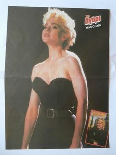 Madonna Olympiakos Mini Poster from Greek Magazines clippings 1970s 1990s | eBay