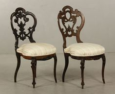 c1860 Rococo laminated chairs, rswd, 37t, 16-ns3h.