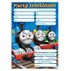 Thomas The Tank Engine Party Invitations 299 20pk Birthday Parties Ideas