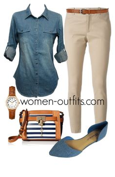 8dcd0b26ceb4c beige and denim by xwtiko on Polyvore featuring Gucci and Timex Casual Work  Outfits