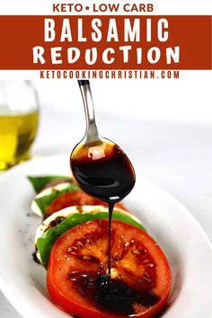 Balsamic Reduction There is nothing quite like the intense and robust flavors of homemade Balsamic Glaze. With just a few steps you'll never want store bought again! #balsamicglaze #ketobalsamic #ketocondiments Keto Sauces, Low Carb Sauces, Low Carb Recipes, Cooking Recipes, Best Carbs To Eat, Balsamic Reduction Recipe, Keto Salad Dressing, Low Carb Casseroles, Balsamic Glaze