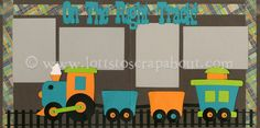 scrapbook layout for trains