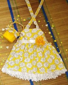 Sewing Patterns for Girls Dresses and Skirts: Sewing Pattern Sun Dress with Flower Basket ( pdf for sale), 2 to 9 Years