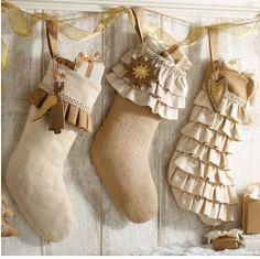 Mercantile - Burlap Christmas Stocking