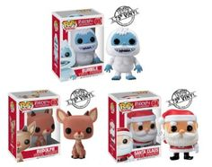 Amazon.com: Funko POP! Holiday - Vinyl Figures - Set of 3 Rudolph Red Nosed Reindeer (Rudolph, Santa & Bumble): Toys & Games