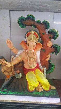 Shri Ganesh Images, Ganesha Pictures, Krishna Tattoo, Ganesh Bhagwan, Ganesh Photo, Jai Ganesh, Ganesh Utsav, Lord Krishna Wallpapers, Ganesha Painting