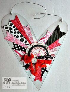 3 Girl JAM: I love you heart plaque