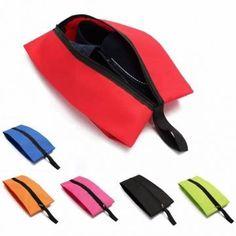 Viaggiare all'aperto foldable pieghevole caso di borsa di polvere di totalizzatore d'immagazzinamento di cerniera di organizzatore di scarpe di borsa di nailon impermeabile