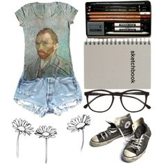 Can't wait for art class by ginga-ninja on Polyvore featuring мода…