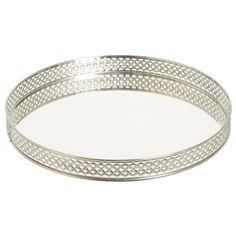 Bricka med spegel 26 cm Silver - Övrig dekoration - Rusta