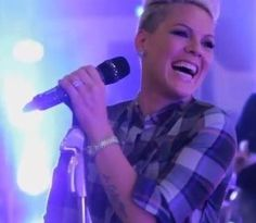 P!nk. I love her natural smile. She is so gorgeous!