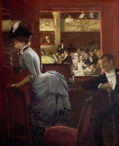 Fashion in Art #Jean Bèraud, The Box the Stalls, 1883