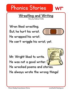 This Reading Comprehension Worksheet - Vicky is Sick is for teaching reading comprehension. Use this reading comprehension story to teach reading comprehension. First Grade Reading Comprehension, Phonics Reading, Reading Comprehension Worksheets, Teaching Phonics, Phonics Worksheets, Teaching Reading, Blends Worksheets, Kindergarten Reading, Reading Words