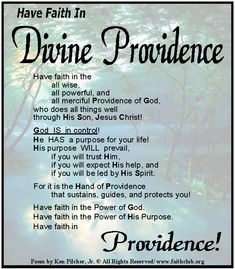 "#""Have Faith in Divine Providence"""