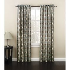 Marthawindow Hampton Leaf Grommet Top Curtain Panel