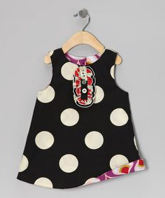 {Black & Purple Reversible Tux Dress - Infant, Toddler & Girls by Right Bank Babies}