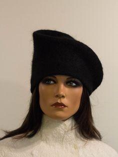 Felt avant-garde mood women hat felted winter par DosethHandmade