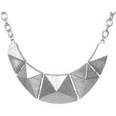 Pyramid Statement Necklace ($11) ❤ liked on Polyvore