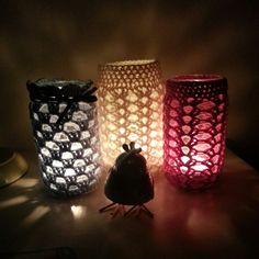 @ meanyjar: Crochet granny jar cover
