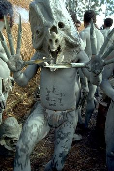 Louve Monstre — The Masks of the Asaro Tribe of Papua New Guinea...