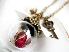 Your place to buy and sell all things handmade Real Flowers, Dried Flowers, Dark Red Roses, Jewelery, Jewelry Necklaces, Globe Pendant, Glass Globe, Glass Ball, Flower Necklace