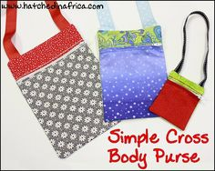 Make Teen, Girls and Doll Cross body purses with this quick In the Hoop embroidery design. Done in 1 single hooping! HatchedInAfrica.com | Product Details