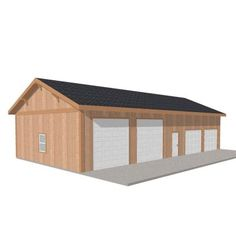 Barn Pros Workshop 60 ft. x 30 ft. Engineered Wood Garage-THD-BP3060WS - The Home Depot