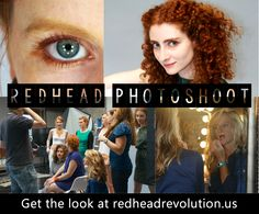 Check out Redhead Revolution's photoshoot and get the look! #redheadmascara #gingers
