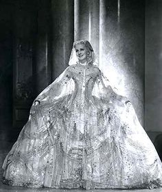 "Norma Shearer in ""Marie Antoinette"" gown by Adrian"