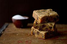 Salted Caramel Chocolate Chip Blondies | My Baking Addiction