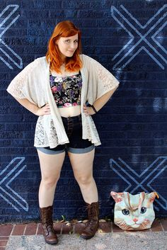 """Crop tops, what it means to be """"chubby,"""" and body positivity. #ootd #fbloggers #modcloth"""